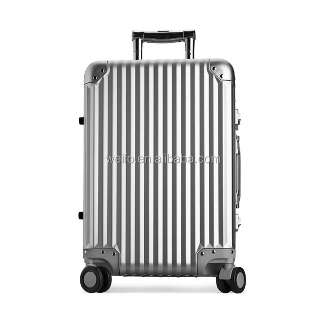 high level aluminum trolley luggage