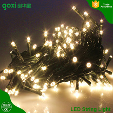 10m 100 LED White Solar String Fairy Lights Outdoor Waterproof Thanksgiving Christmas New Year