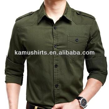 Wholesale Mens Military Uniform Shirts/army Shirts For Man/long ...