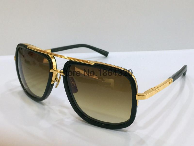 b5e5e393cd8 ... Matte Black Gold Replica Dita Sunglasses Dita Mach Three DRX-2059-A  Sunglasses