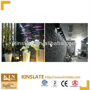 China slate manufacturer decorative glued black wall claddings