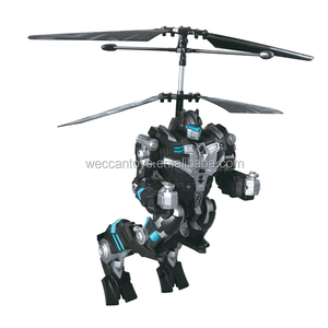 2CH infrared control rc flying robot rc helicopter battle robot rc plane