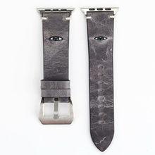 DAHASE ремешок для часов из натуральной кожи для Apple Watch 38 мм 42 мм 3D глаз для женщин и мужчин сменный Браслет ремешок для iwatch 1 2 3(China)
