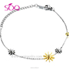 Sterling silver thin chain unique design novel flower national color professional bracelet
