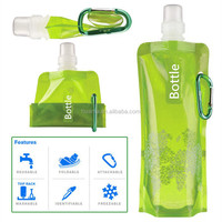 2016 Promotion Items Wholesale Outdoor BPA Free Portable Collapsible foldable Sports Plastic Water Bottle in stock
