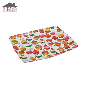 Popular Kid Use Colorful Safe Melamine Small Plastic Trays