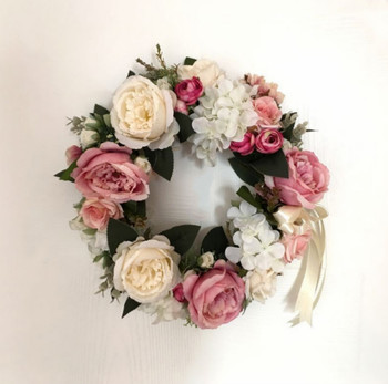 Silk Peony Hydrangea Wedding Door Wreath Buy Silk Rose Flower