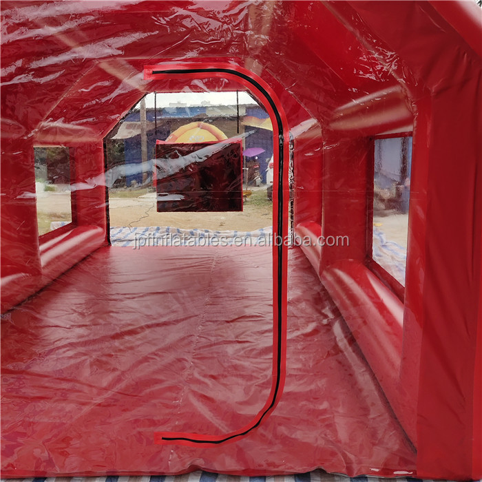 2019 New design Air sealed car spray inflatable paint booth tent with filter garage
