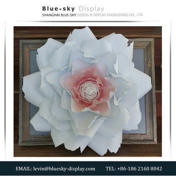 Giant Flower Wall Paper Backdrop Wedding Shop Window Display