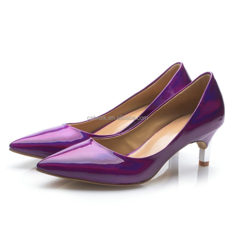 Low Purple Heels