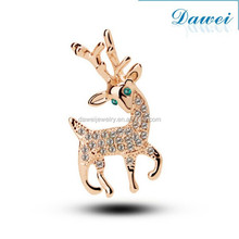 Fine Jewelry Latest Fashion Crystal Deer Brooches Wholesale Wedding
