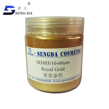 Pearlescent gold pigment/mica powder for cosmetic