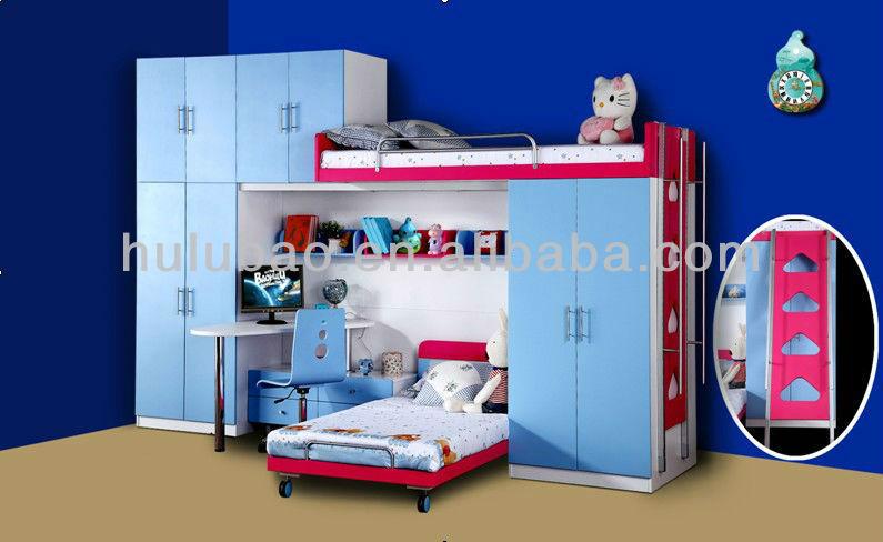 Children Bedroom Furniture With Kids Bunk,Trundle Bed,Two Door  Wardrobe,Computer Desk And Small Chest - Buy Trundle Bed,Bunk Bed,Children  Furniture ...