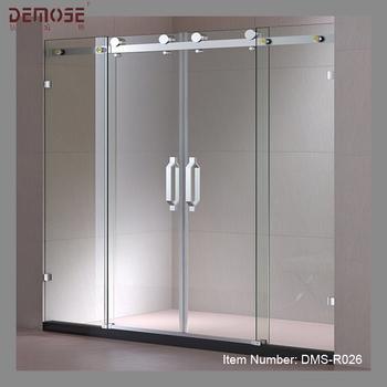 Shower door strip magnetic