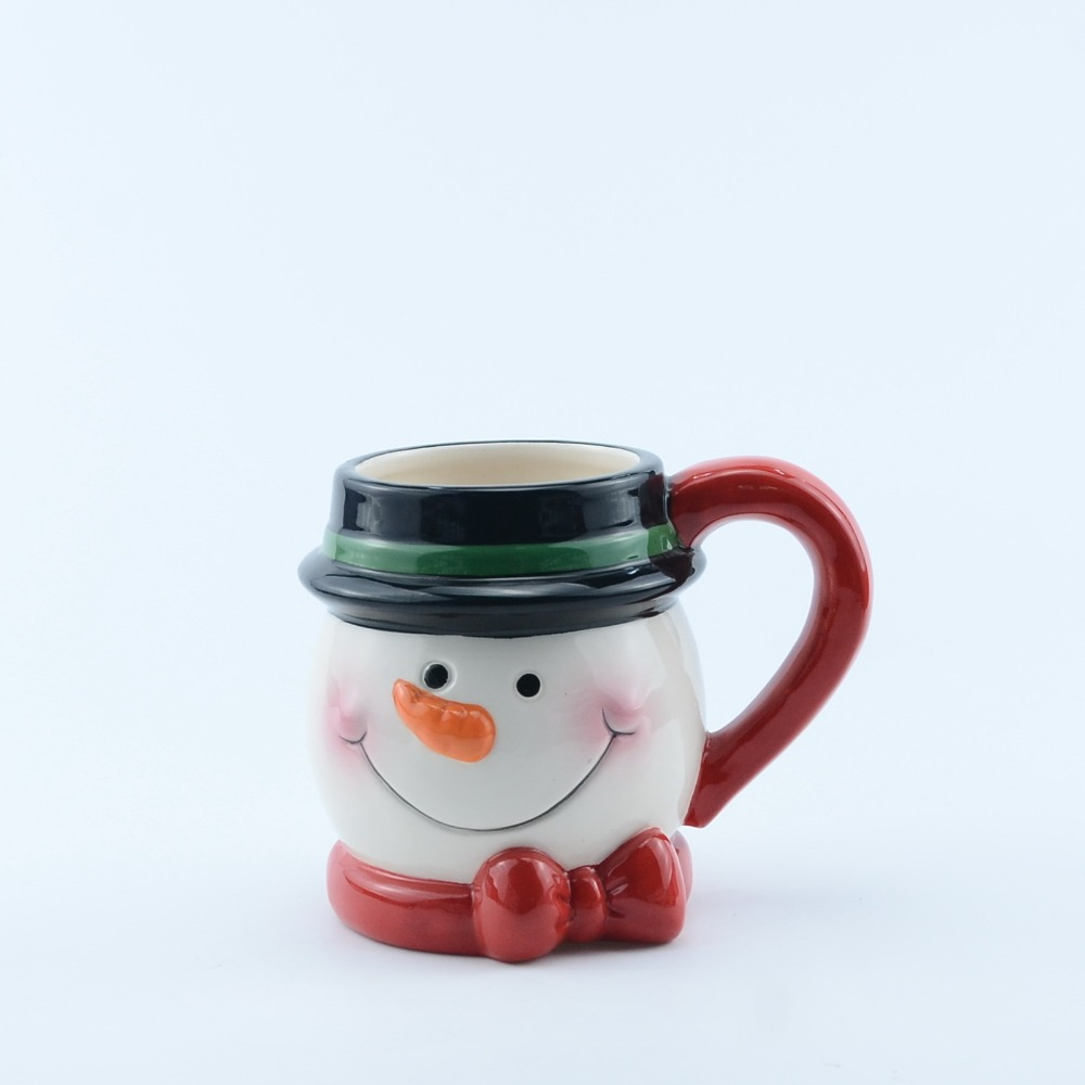 Manufacturer cheap custom clown shape mini ceramic coffee mug