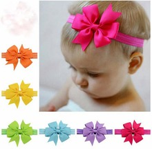 Baby Bow Headband Hair Bowknot lace Headbands Infant Hair Accessories Girls grosgrain ribbon Bow Headband Toddler
