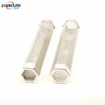 "Jiukun food grade stainless steel 12"" hexagon pellet smoker tube for All Grill Electric Gas Charcoal or Smokers 5 Hours lasts"