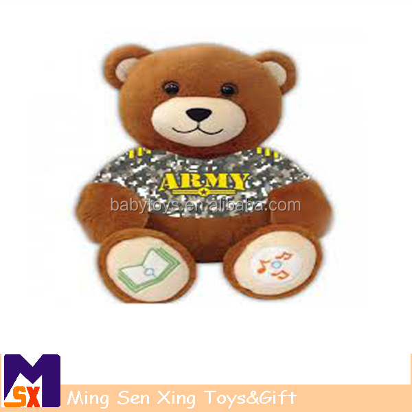 Plush Material and Bear Type Stuffed Knit Teddy Bear