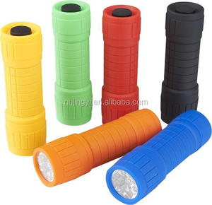 Hot sale ABS torch mini 9 LED promotion cheap plastic flashlight