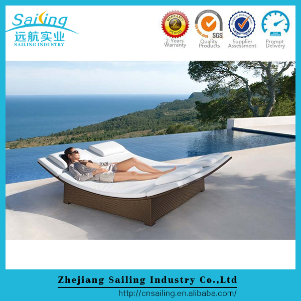 Hot Sale Patio All Weather Outdoor Garden Rattan Lounge Chair