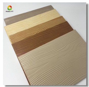 Wood grain texture fiber cement siding board exterior wall for Wood grain siding panels