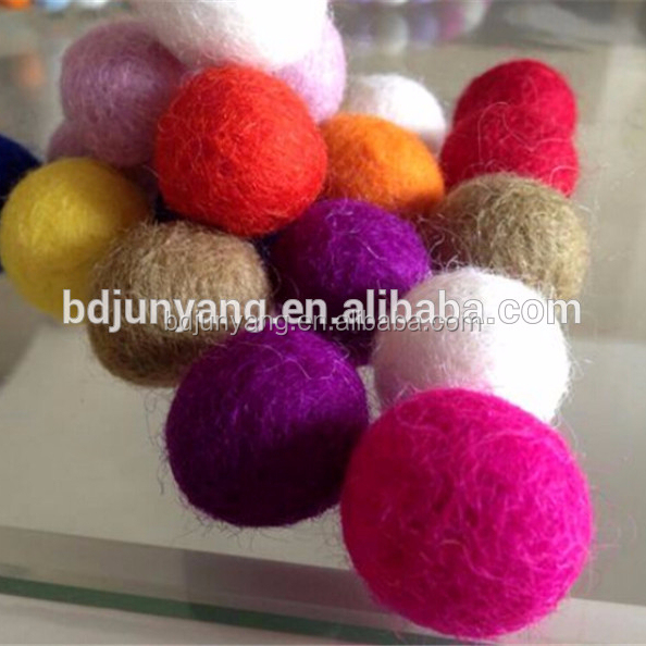 christmas ornament/felt christmas hanging balls/felt wool balls