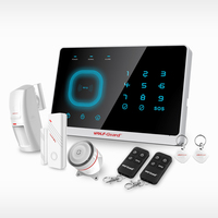 Android ios app remote control Intelligent smart Home Burglar Security GSM Alarm System with WIFI IP camera(YL-007M2G)