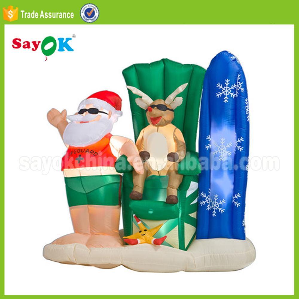 inflatable surf board santa