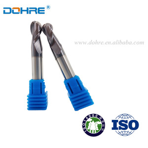 DOHRE Tungsten Carbide 2 Flutes Ball Nose Hard Metal Cutting Tools