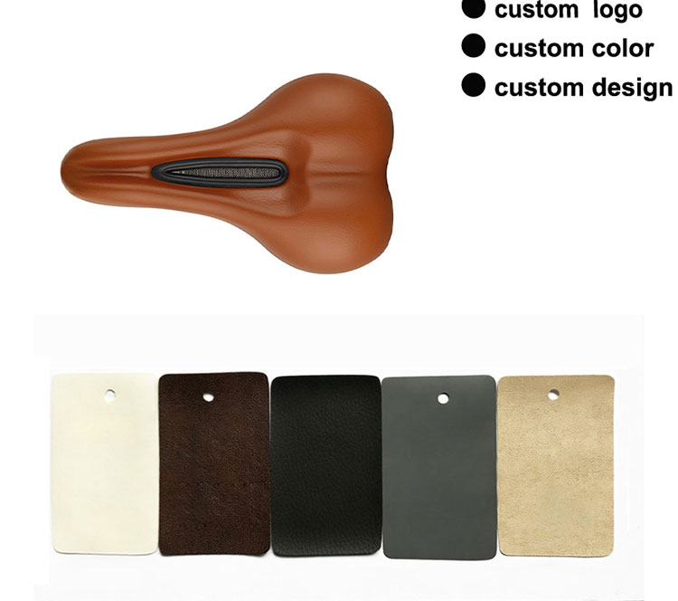 New Outdoor Sports Synthetic Leather Road Bike Seat Steel Rail Mens Cycling MTB Mountain Bicycle Saddle