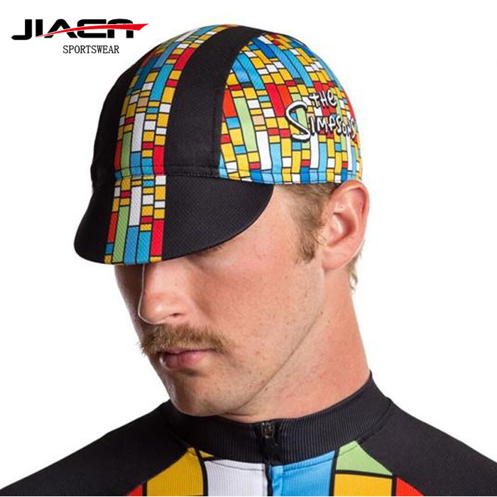 custom 100% polyester biker skull caps,mountain bike hats caps,cycling hats for sale