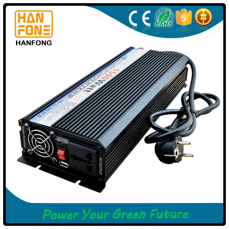 Solar panel controller and grid charger 1500w remote control power supply solar inverter