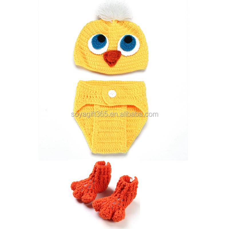 Pato Amarillo Bebé Apoyos De La Foto De Sombrero + Conjunto Corto ...
