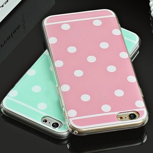 High quality Polka Dot Phone Cases for iPhone 6 6plus 6S 6splus candy color TPU shell