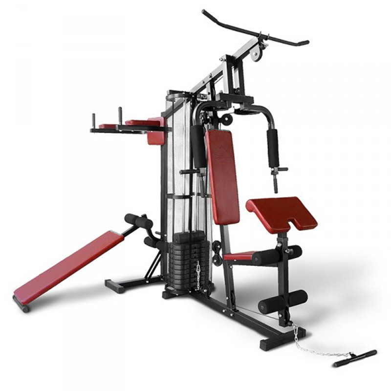 Muscle Training Red Multi Purpose Commercial Home Gym Equipment