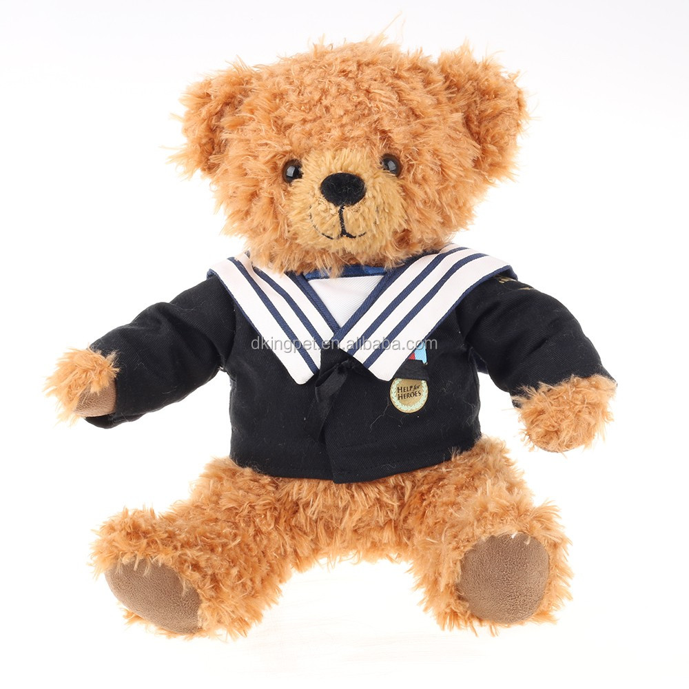 25cm Plush Bear Imported From China Air Force Bear Luxury Teddy ...