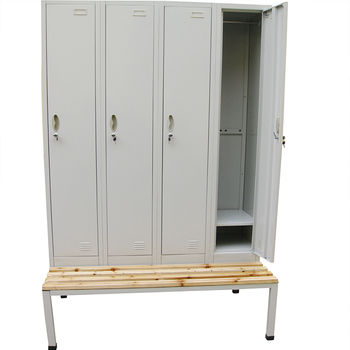Por Gym Steel Locker With Bench For Changing Room