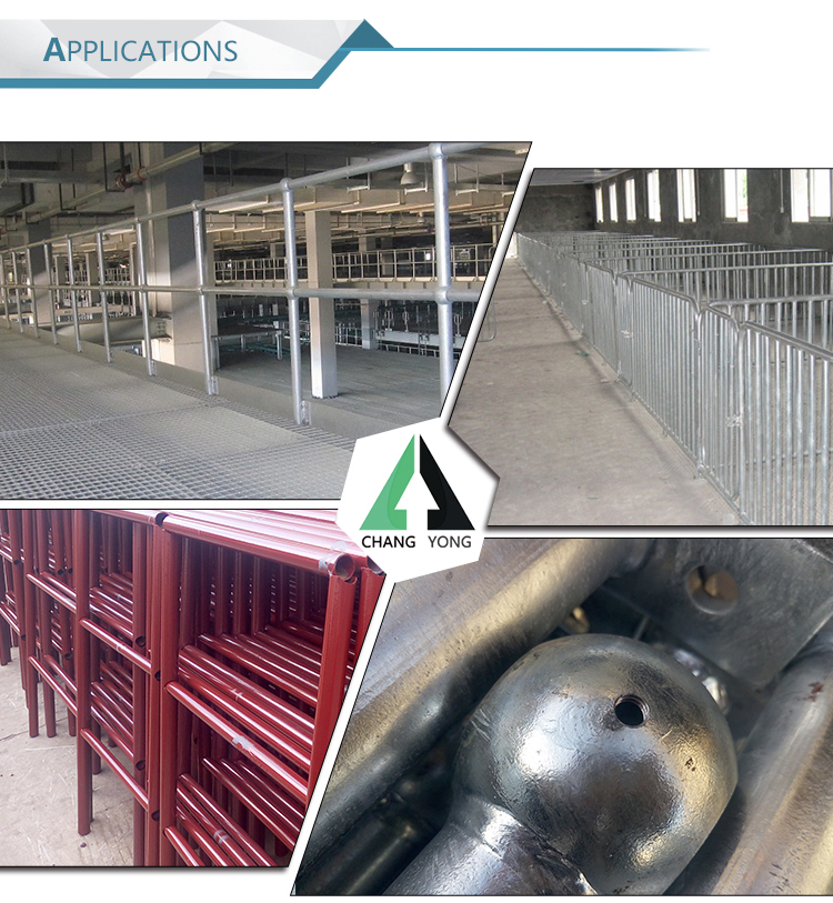 galvanized industrial steel handrail stanchions