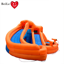 2018 new design kids  slide pool inflatable water