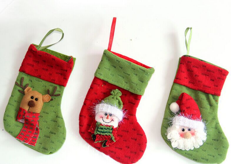 Get Quotations Personalized Christmas Stockings Kids Gifts Socks With Stuffed Santa Snowman Deer Design Select