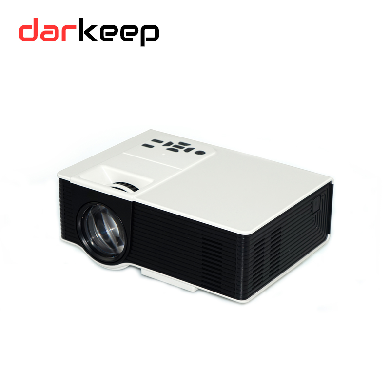 Stereo Speaker 150inch 800*480 Low Power Consumption LED LCD Projector With Bluetooth