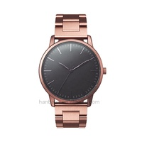 Rose Gold Stainless Steel Strap Unisex Watch Brand Couple Watch