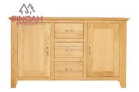 Solid oak wooden furniture dining room set 2 DOOR 3 DRAWER SIDEBOARD(CO2102)
