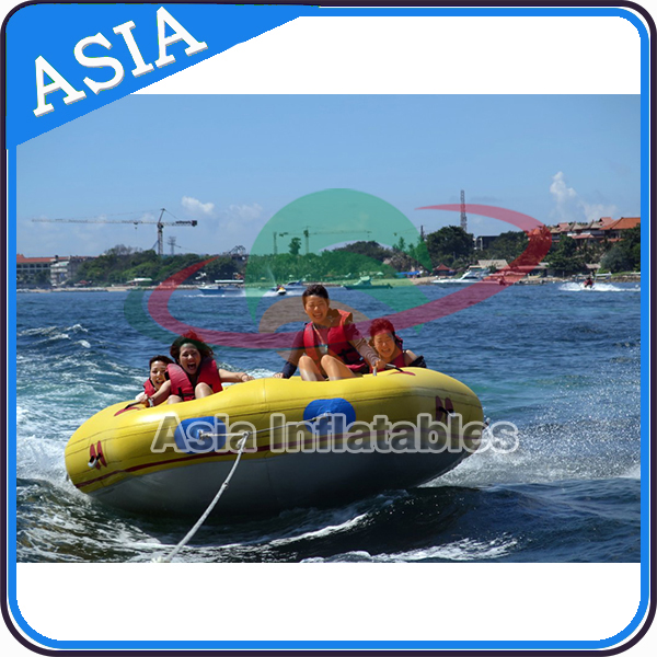 Adult Inflatable donut boat/ Crazy Towable/ Fly Tube donut boat bali For Water Sport Games