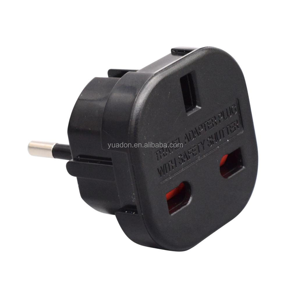 Alibaba UK to euro plug adapter AC power adapter travel plug european plug adapter uk eu travel adaptor