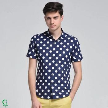 e4294d8bef3 Ssm057 Bulk Wholesale Men Summer Button Up Polka Dot Shirts - Buy ...