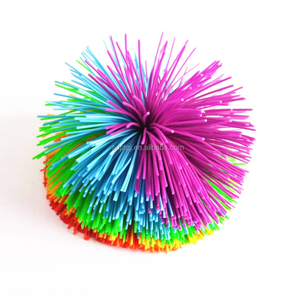 Hot sale multi-color 3-10cm Silicone Koosh toy ball for promotional gifts