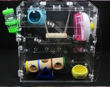 plexiglass/acrylic clear high quality pet rat cage
