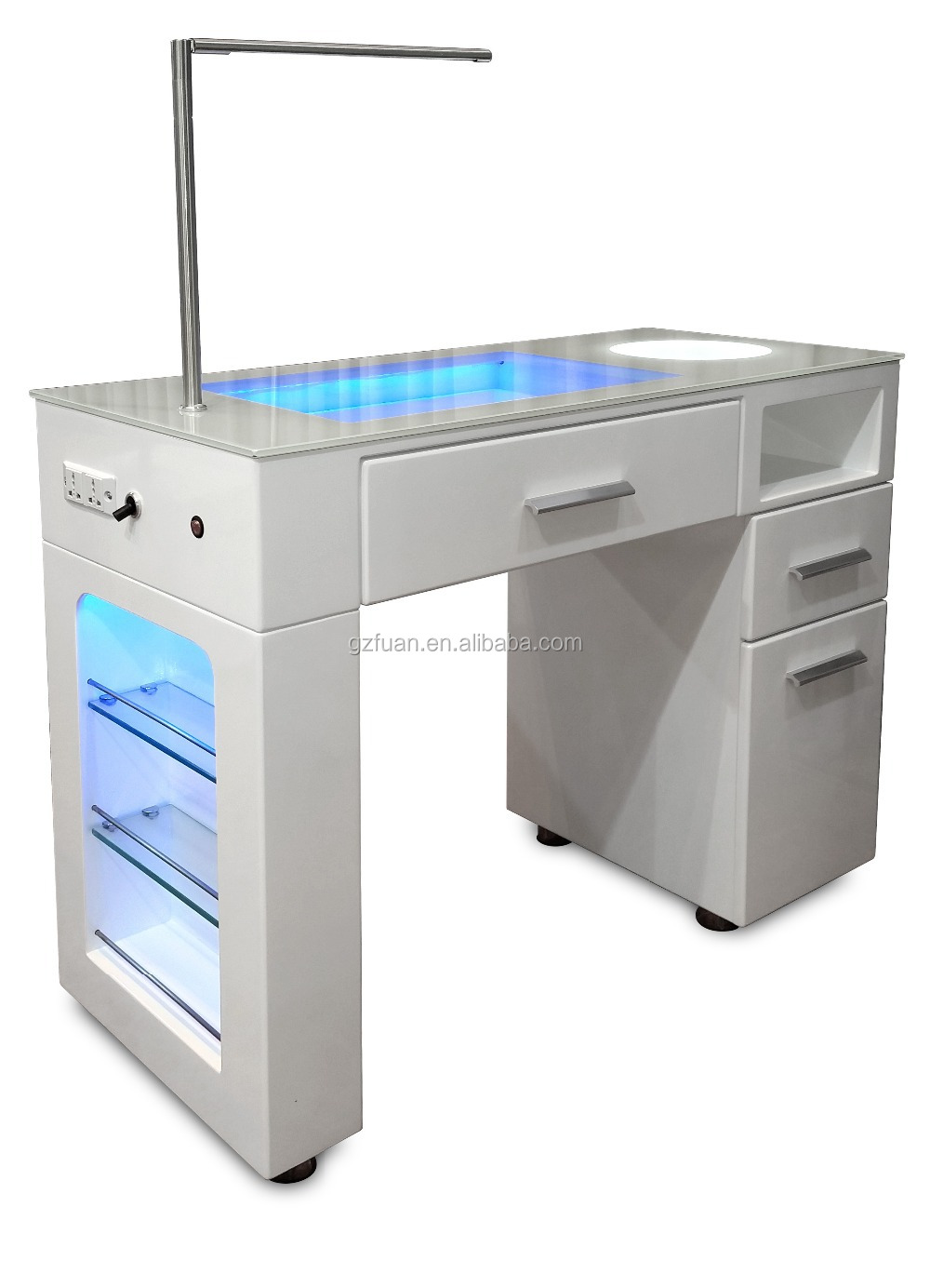 Salon furniture equipment high quality manicure luxury for Nail salon table