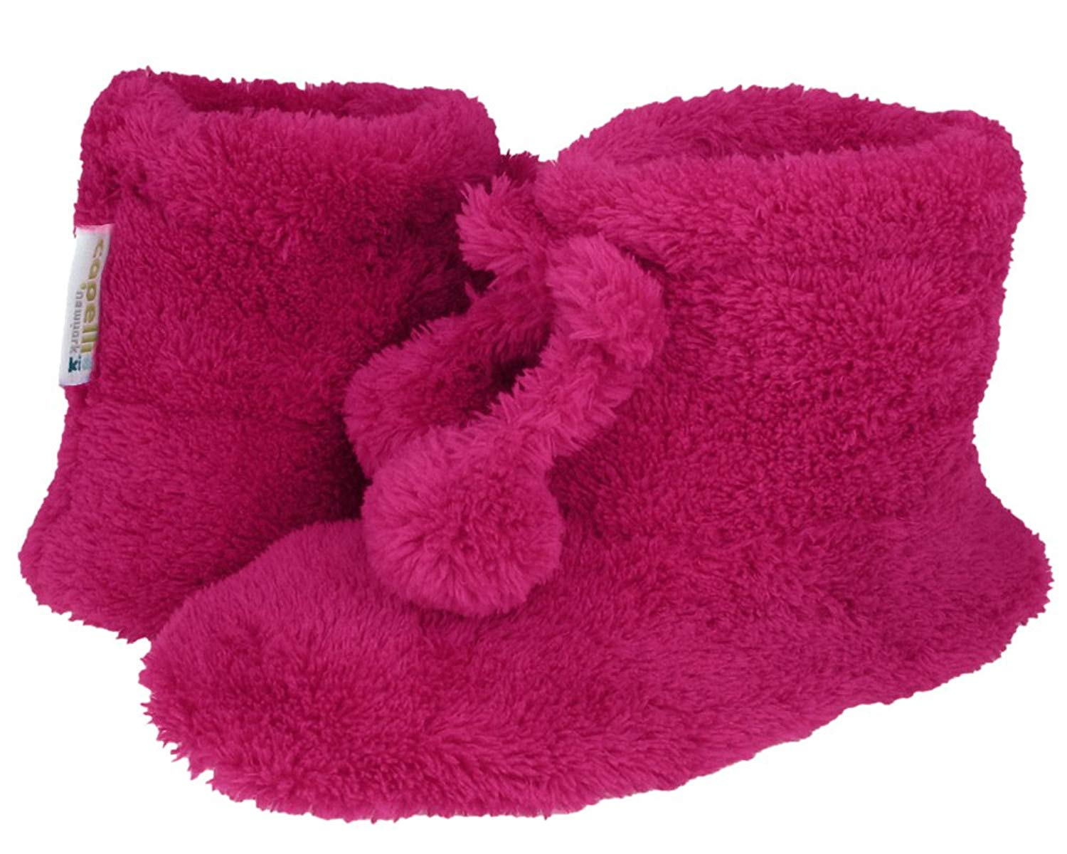 Capelli New York Dreamcozy Boot With Dreamcozy Tie & Poms Girls Indoor Slipper